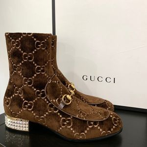 Authentic Gucci Mister GG Brown Booties